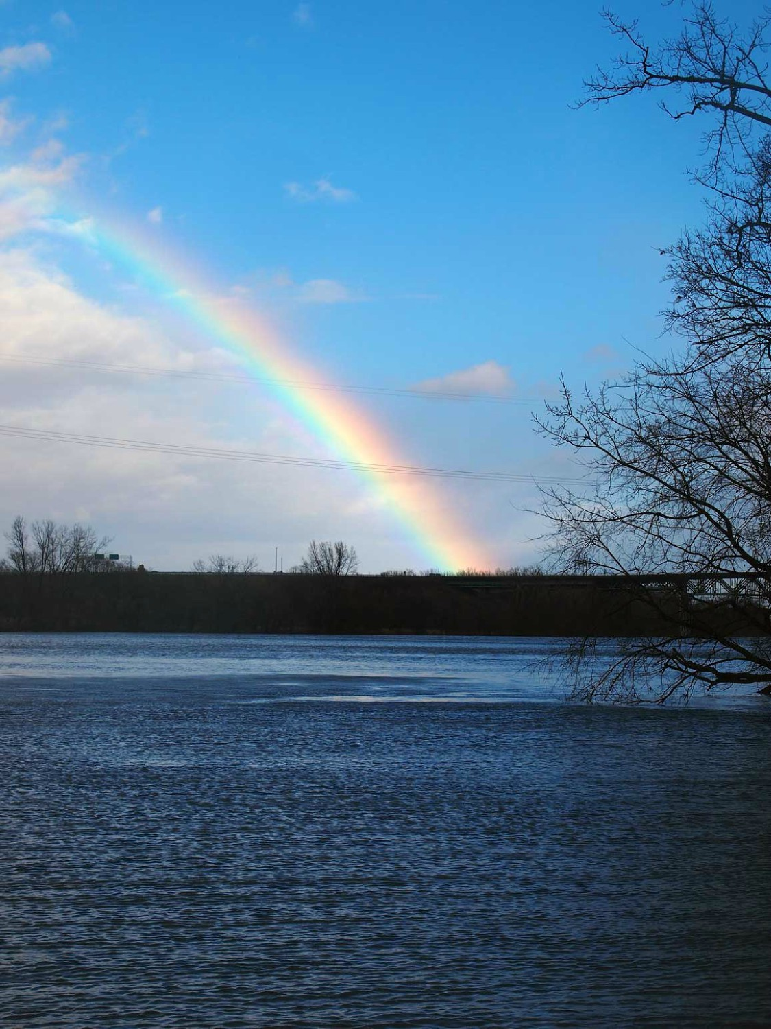 winter solstice rainbow over hudson author hull r ray