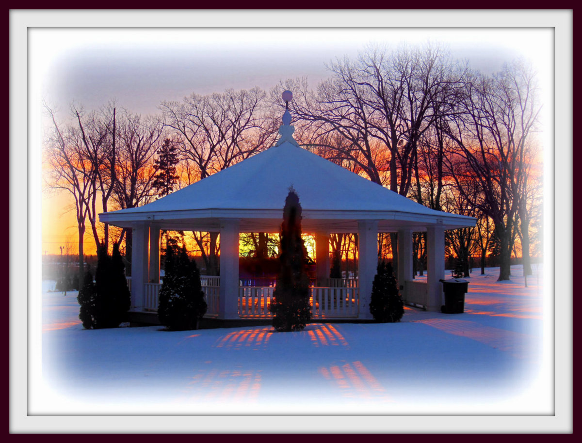 winter sunset in the park author pluskwik paul