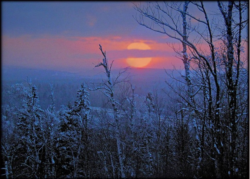 winter sunset cross the laurentian divide author pluskwik paul