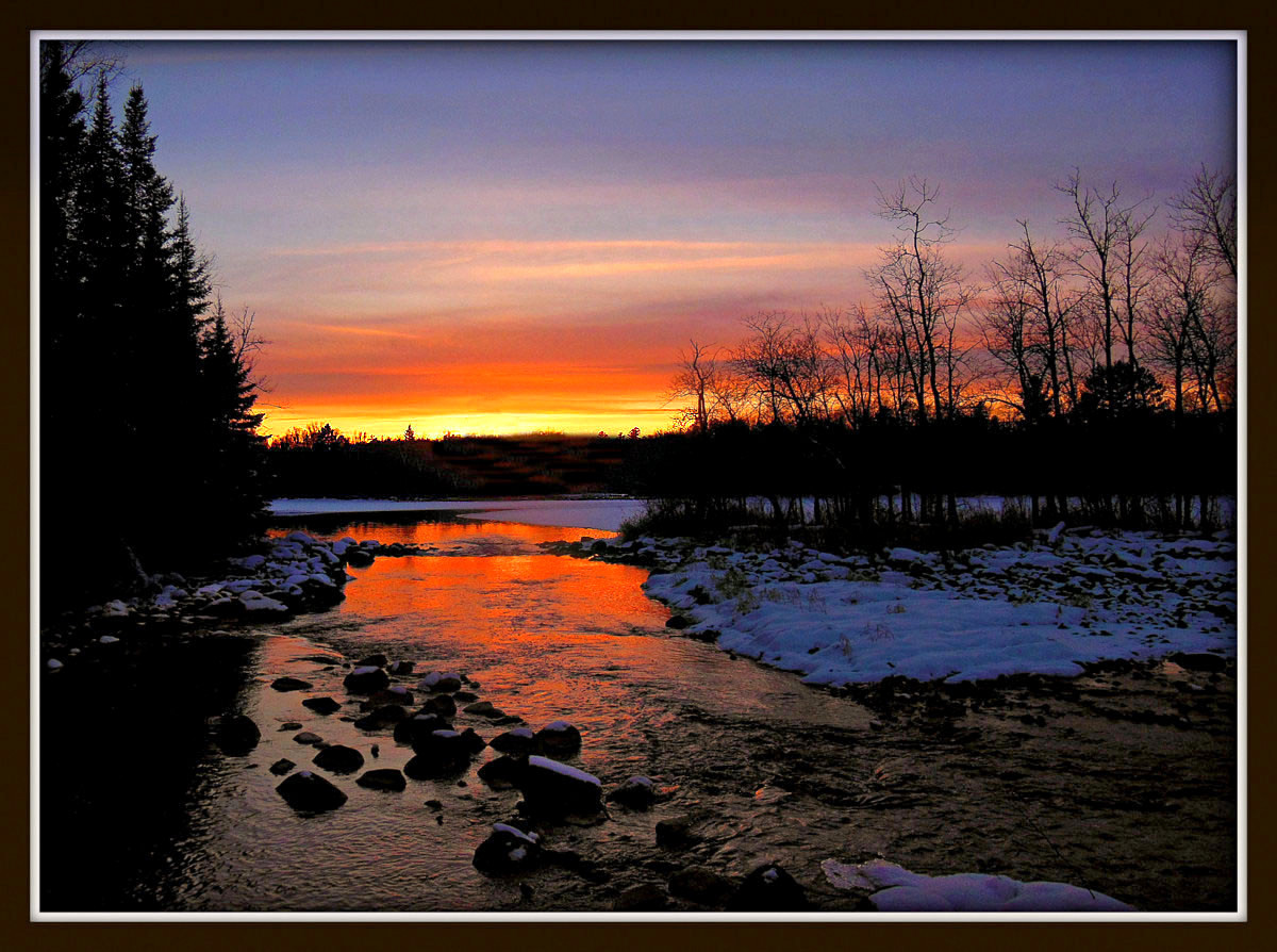 winter sunset down the river author pluskwik paul