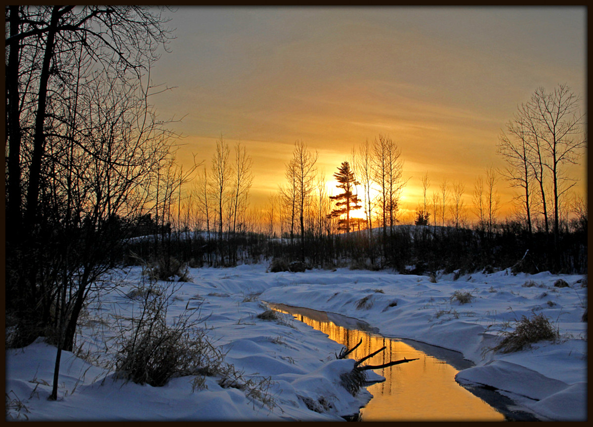 winter sunset author pluskwik paul