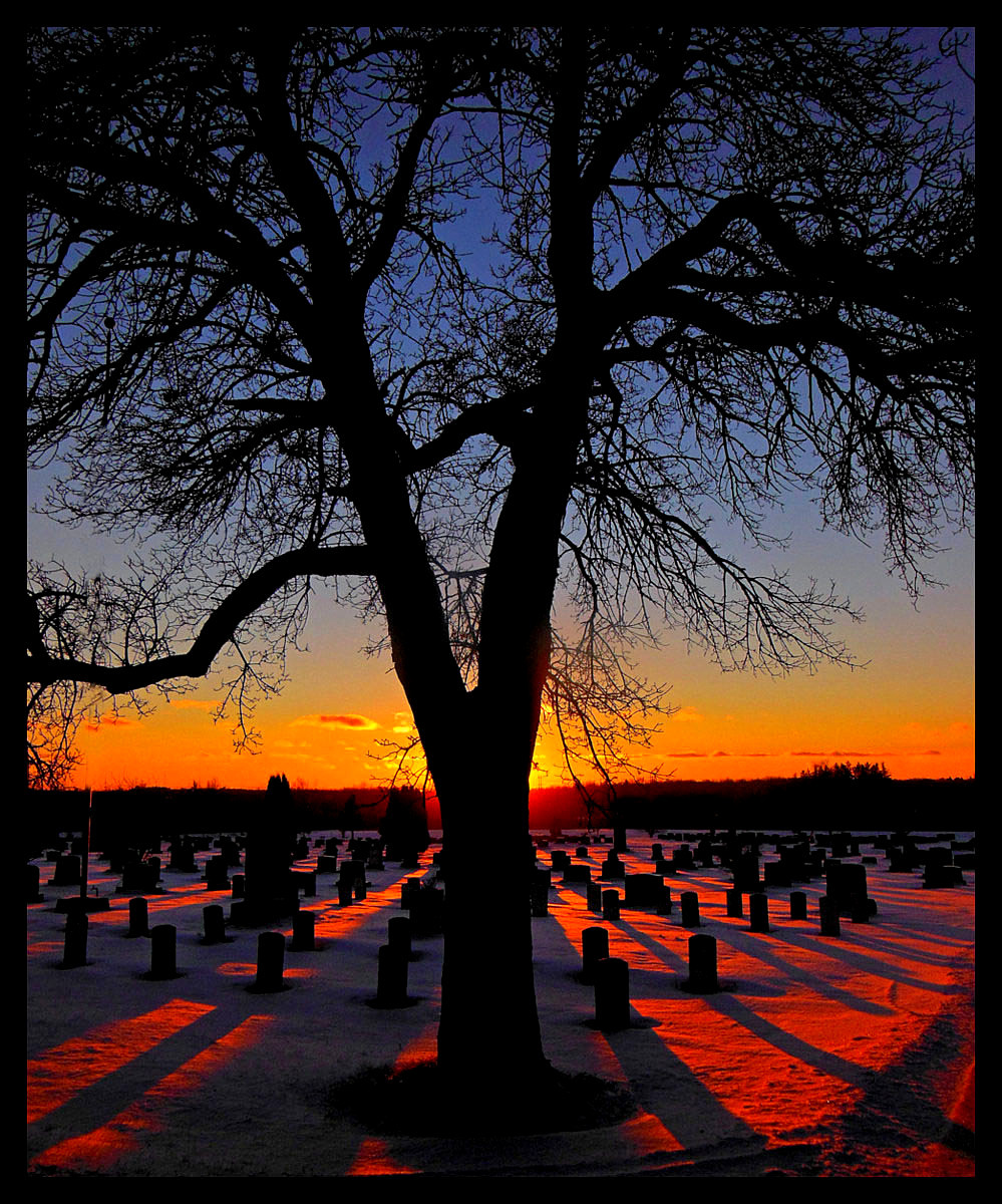 winter cemetery sunset author pluskwik paul