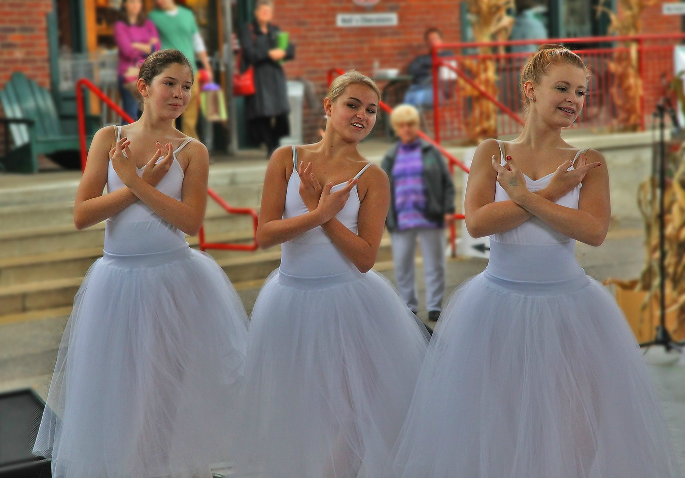 youth ballet at farmer s mkt on a cold day img aw sava gregory and verena