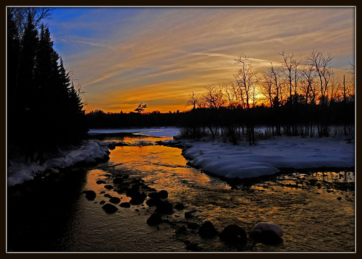 sunset reflections in the river author pluskwik p paul