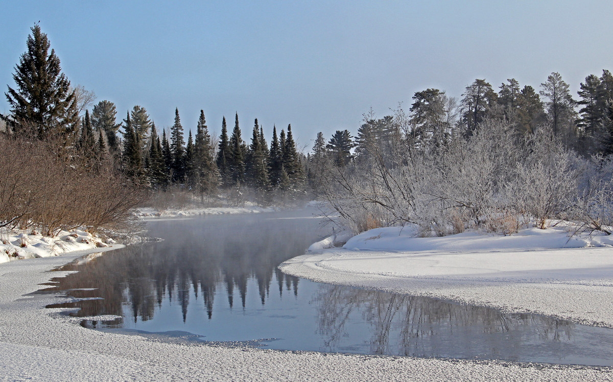 early morning winter landscape reflections author pluskwik paul
