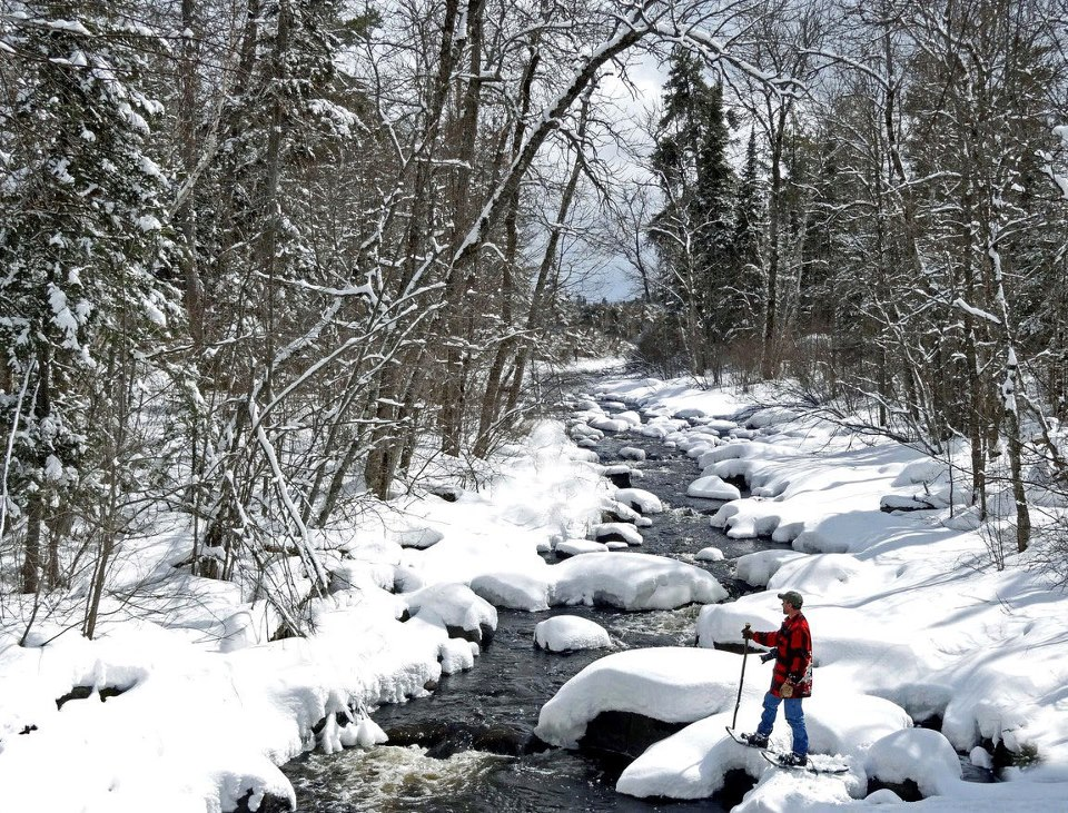 snowshoeing along the souix river author pluskwik paul