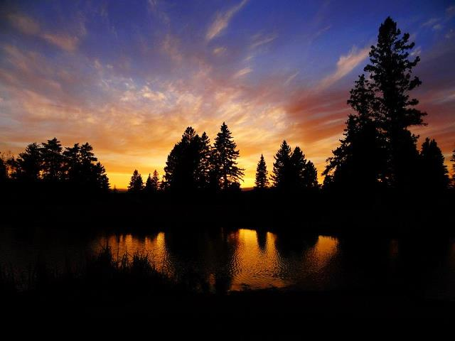 small pond at sunset author pluskwik paul