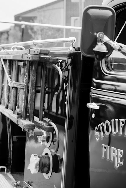 restored fire truck stouffville author brooks dav david