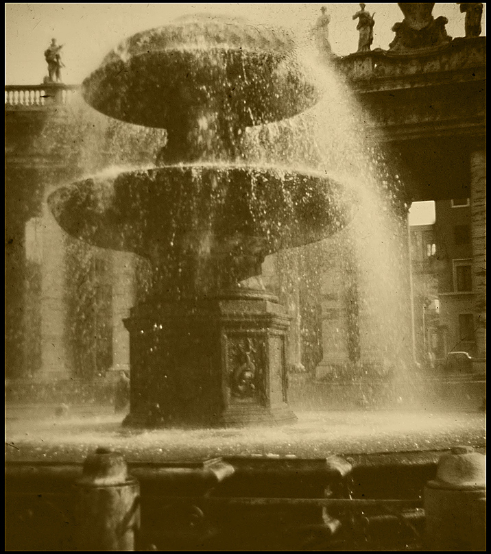 fountain in st peters square rome author siegel honolulu gerry