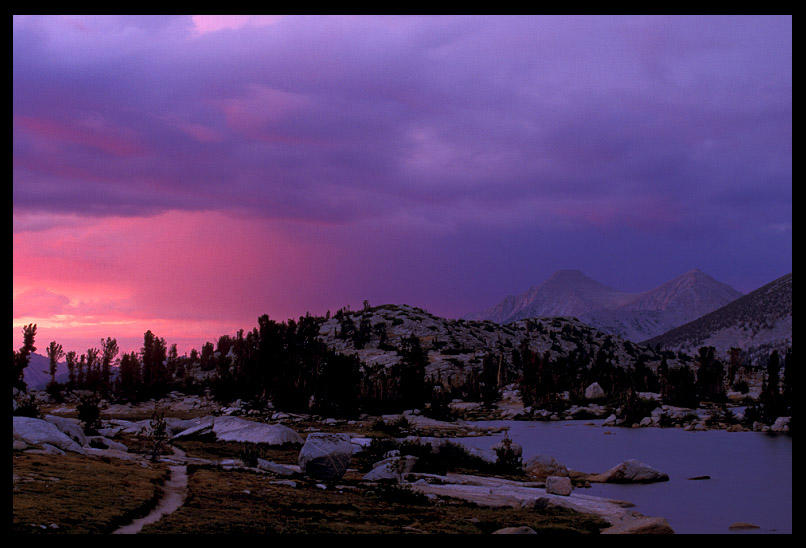last glow sunset at marie lake author ernst brian