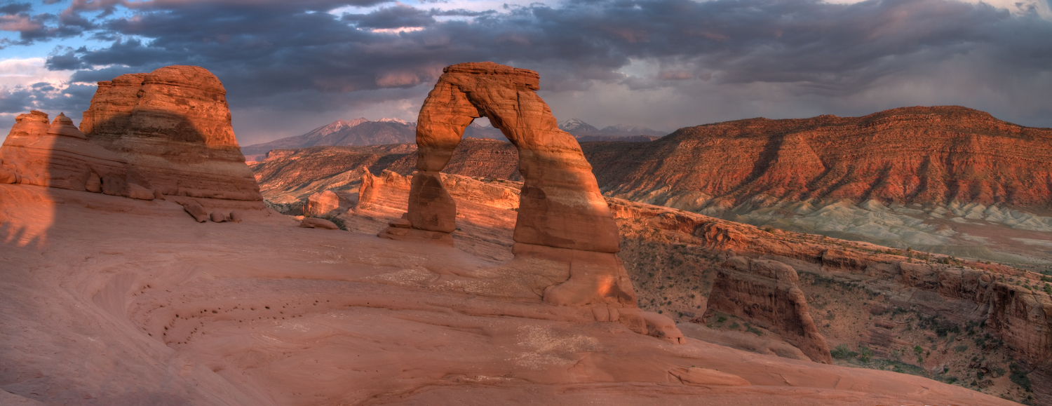 sunset on delicate arch author scherer kevin