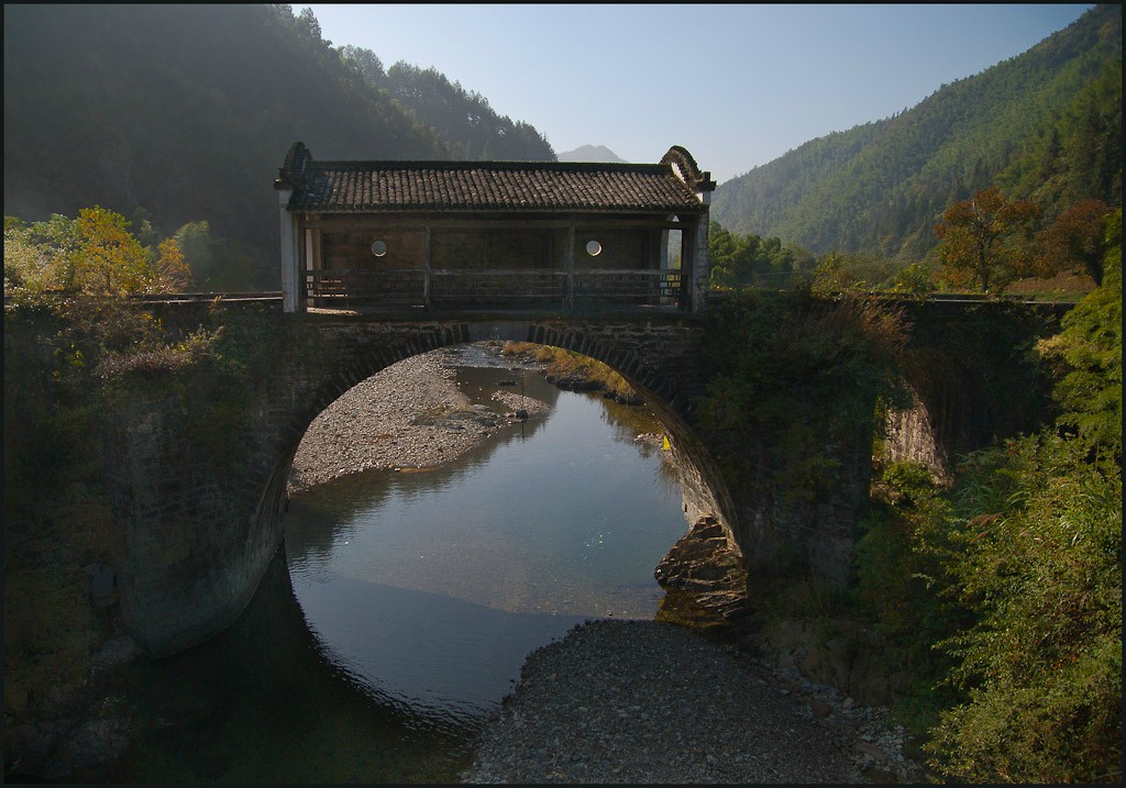 toll booth on abandoned rural china bridge larger downs jim