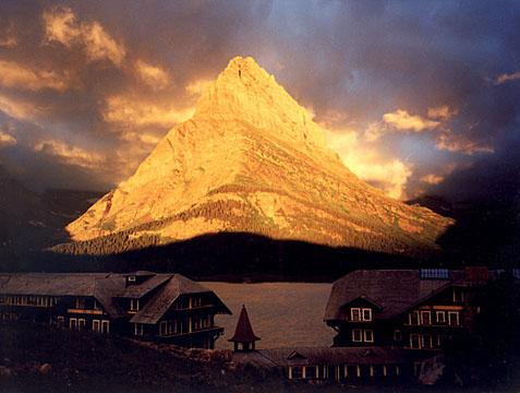 glacier park at dawn a larger scan is in the folde somerville bill