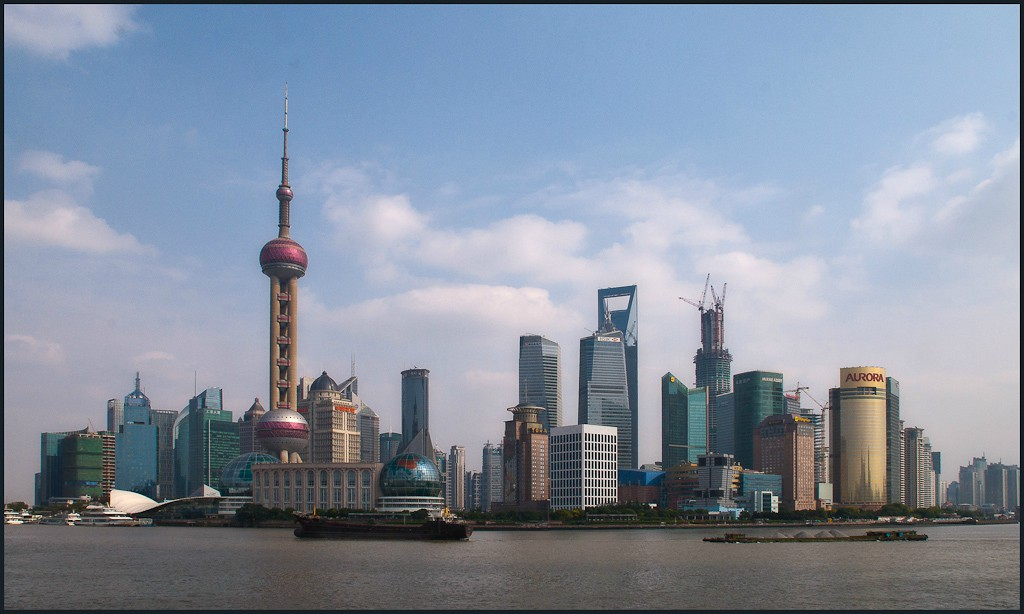 shanghai pudong skyline large view author down downs jim