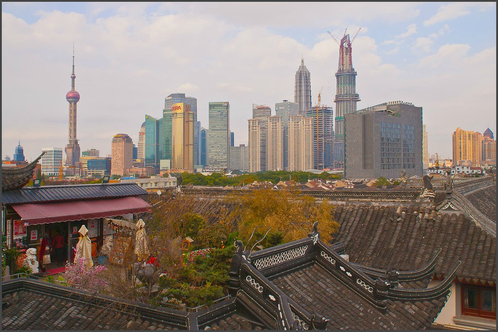 pudong viewed from old city shanghai author dow downs jim