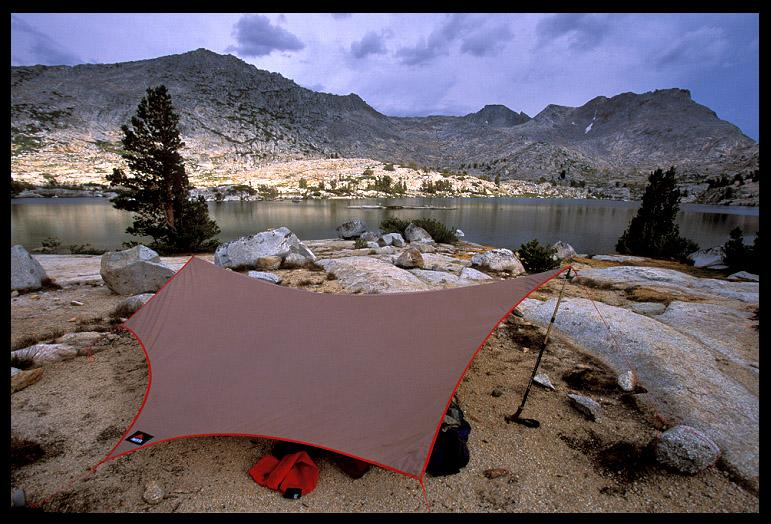 our campsite at marie lake author ernst brian