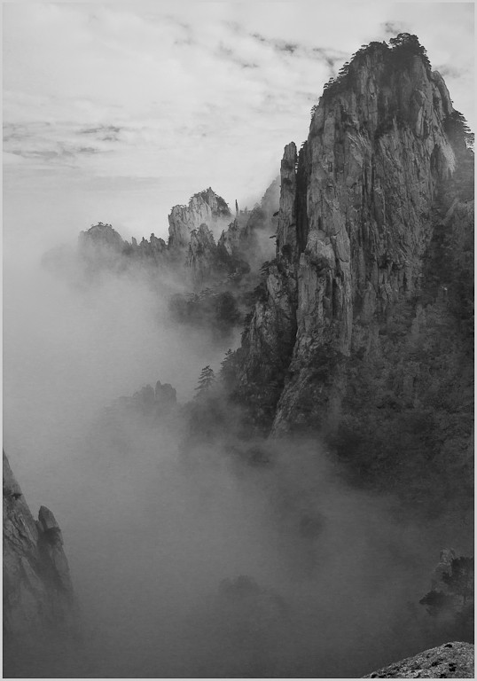 foggy valley on mt huangshan author downs jim