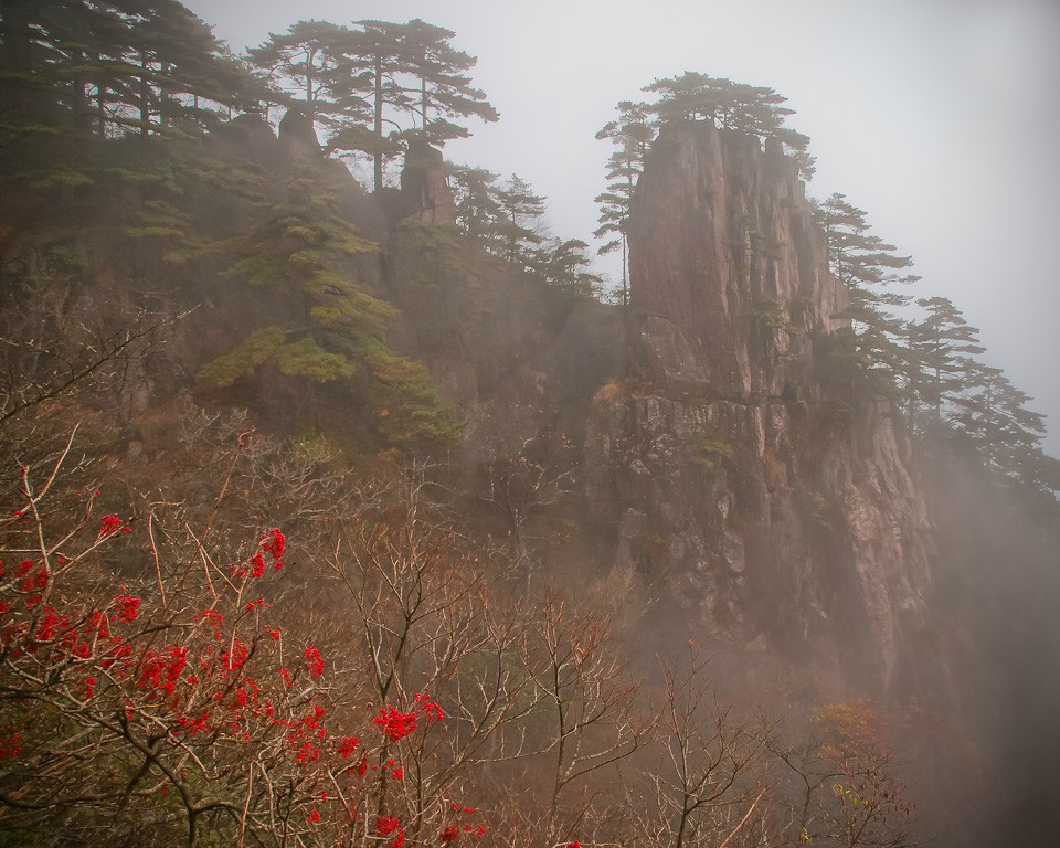 huangshan mtn scenery large view author downs ji jim