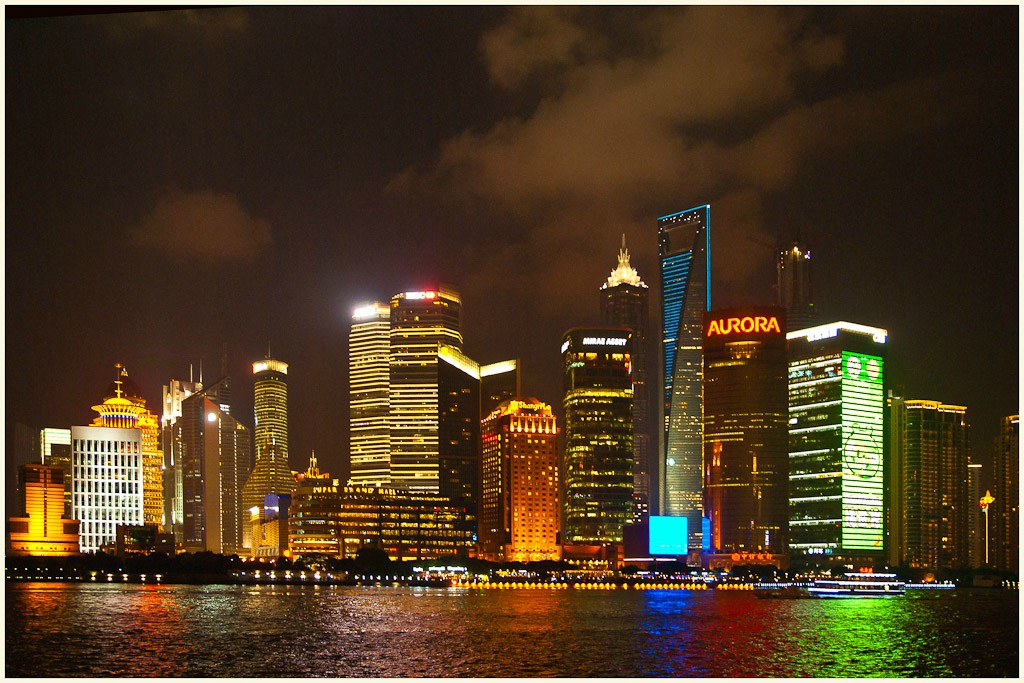 shanghai pudong night large available author dow downs jim