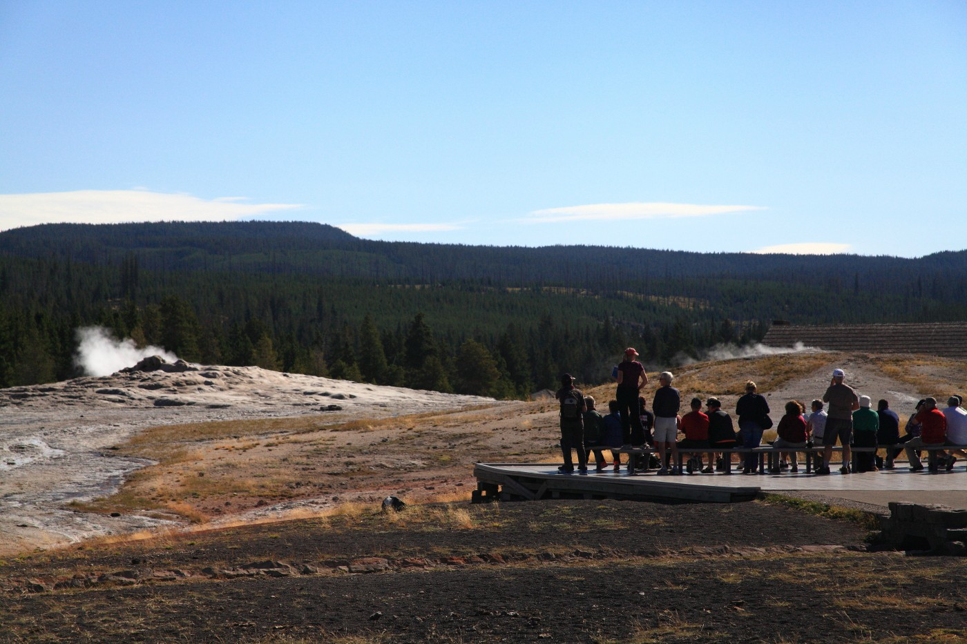 old faithful crowd yellowstone national park au szulecki joshua