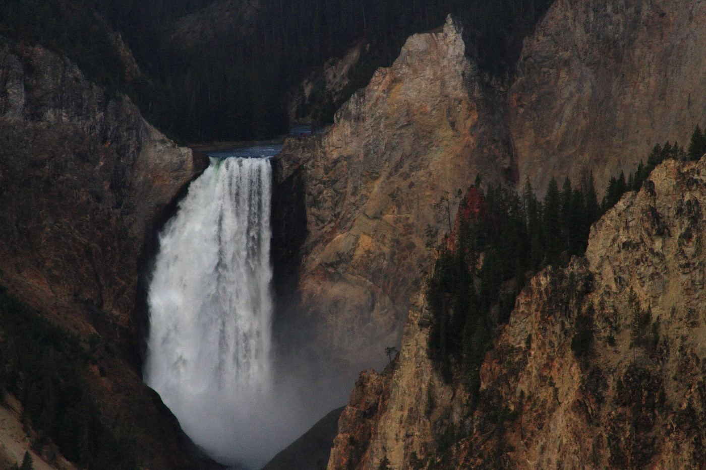 lower falls of the yellowstone grand canyon t szulecki joshua