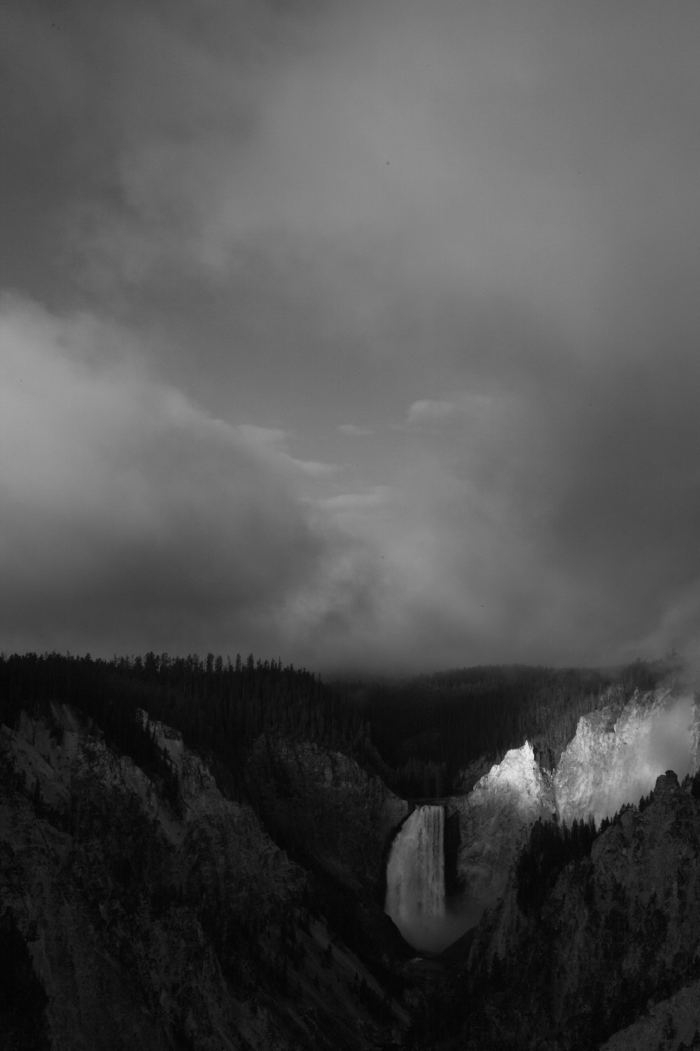 lower falls of the yellowstone river moody b w au szulecki joshua