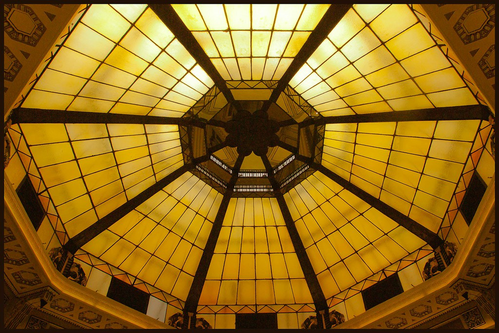 glass dome in peace hotel rotunda shanghai see l downs jim