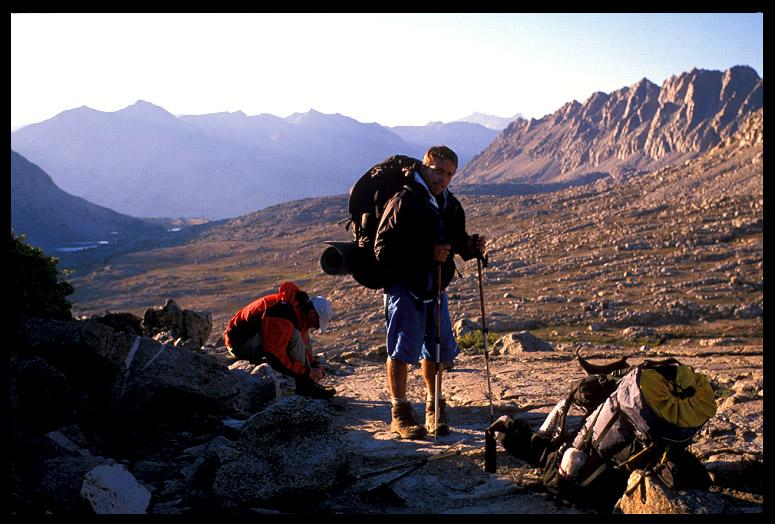 dave and jim atop pinchot pass high sierra author ernst brian