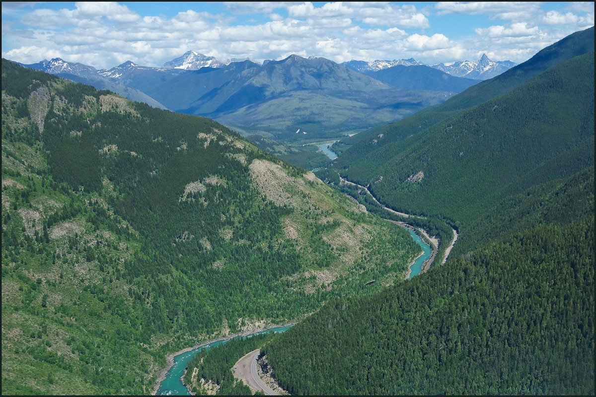 flathead river glacier np large author downs j jim