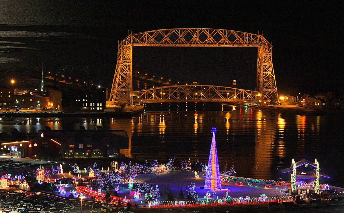 canal park all lit up for the holidays author plu pluskwik paul