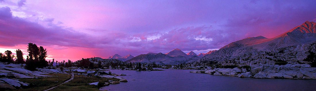 evening at marie lake panorama author ernst brian
