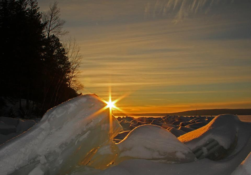 sunset through the large ice piles author pluskwi pluskwik paul
