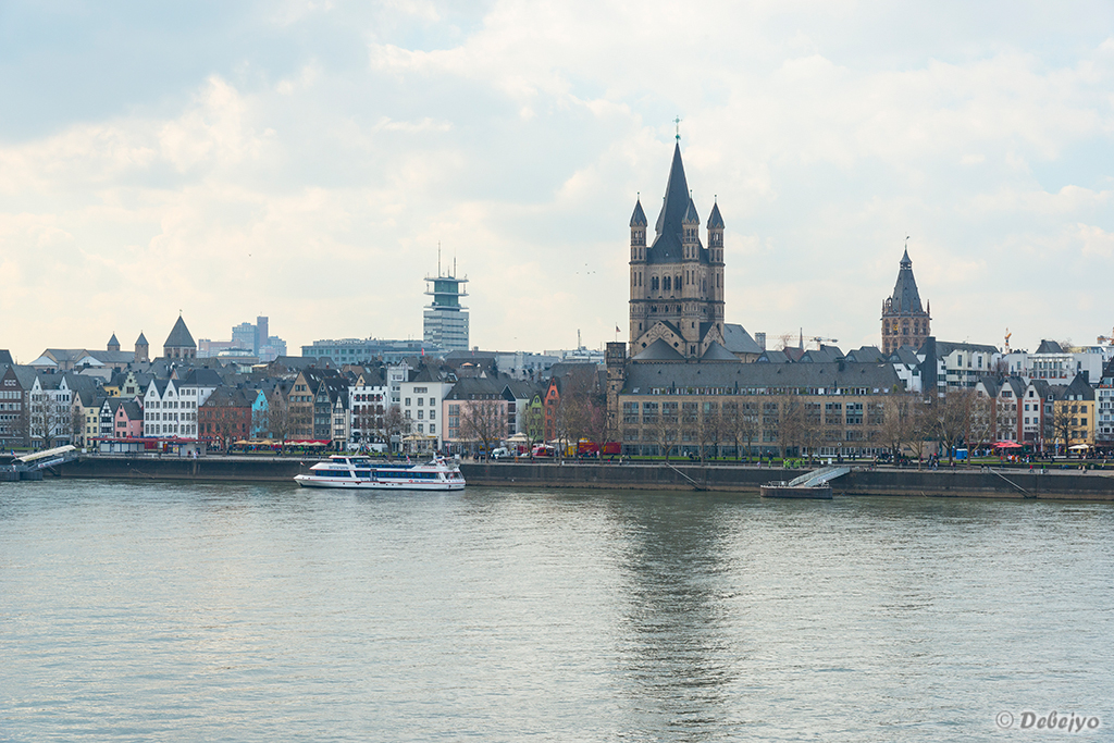 river rhine and old town cologne author chakrabor chakraborty debejyo