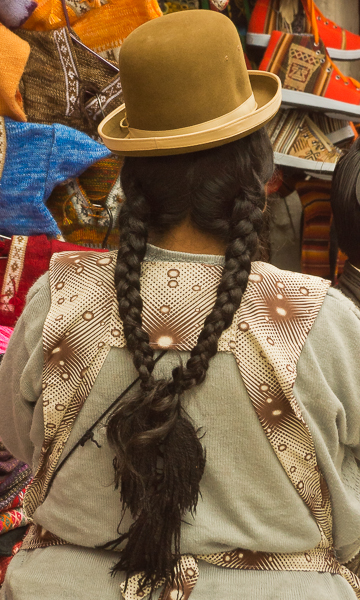 traditional female hairstyle attire in bolivia au downs jim