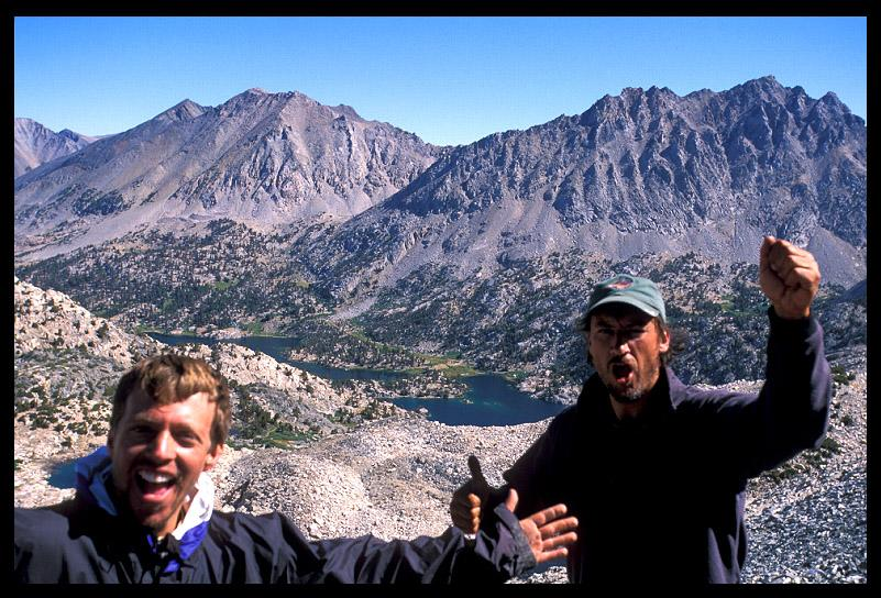 dave and me celebrating atop glen pass author ern ernst brian