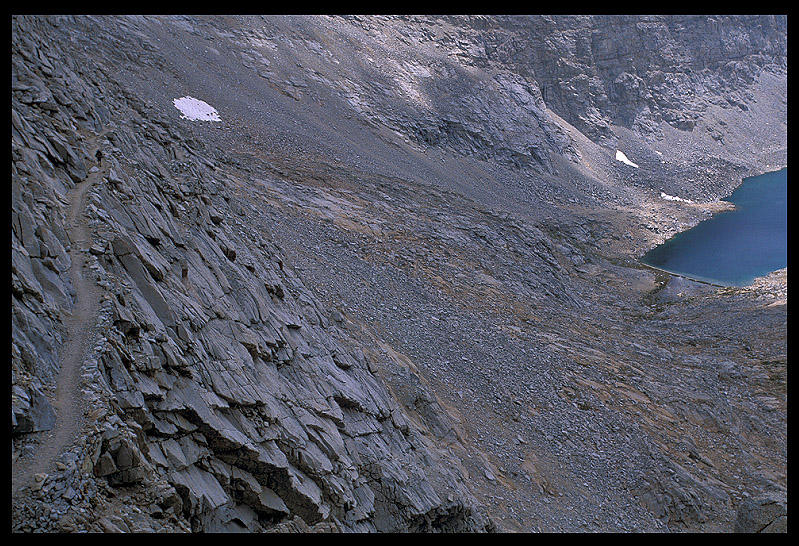 jim descending down forester pass author ernst br brian