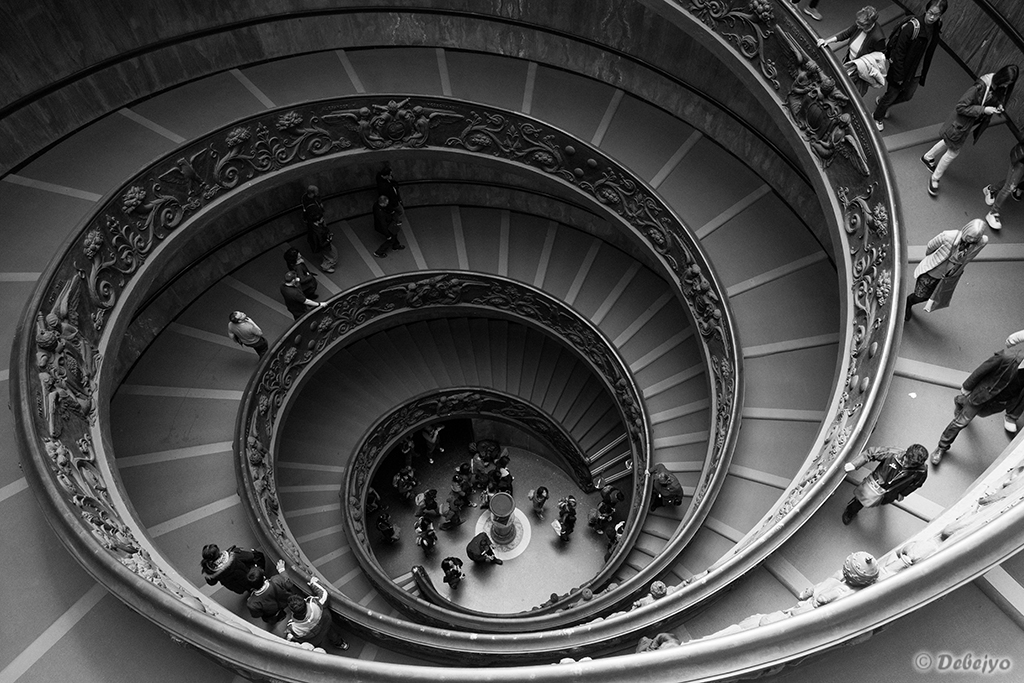 spiral staircase of the vatican museum au chakraborty debejyo
