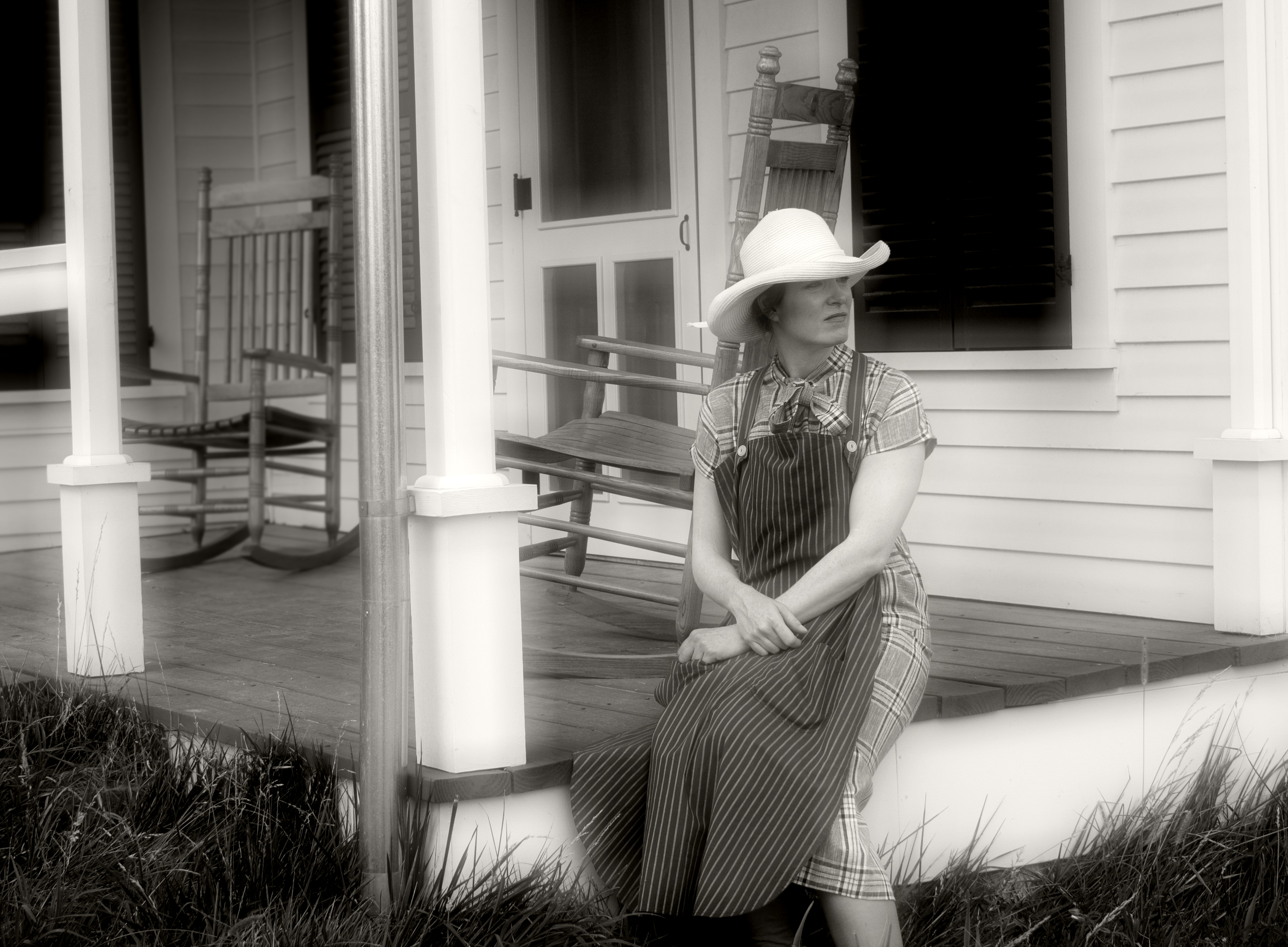 emma hart on her porch author meluso louis