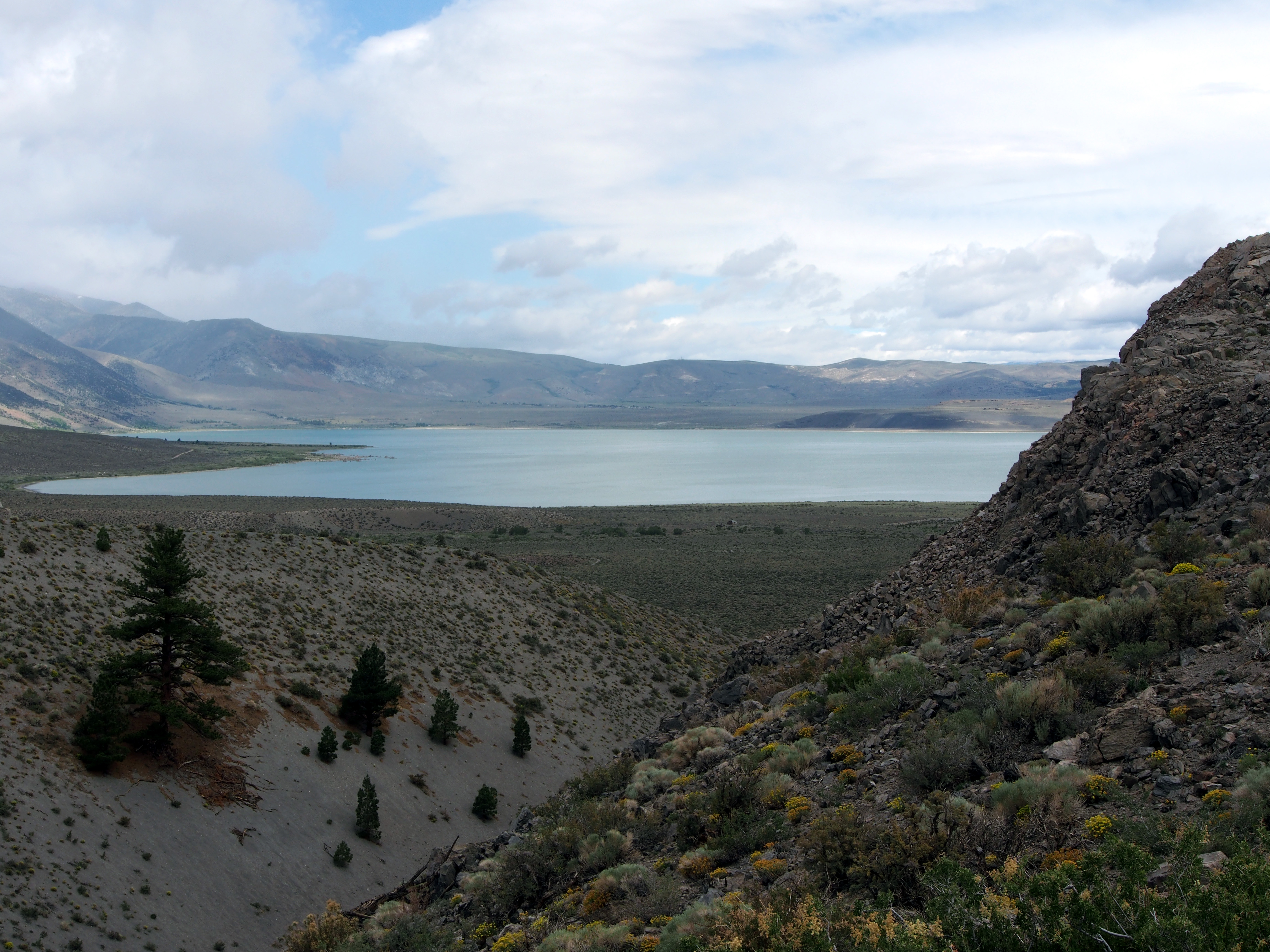 mono lake from crater author hull ray