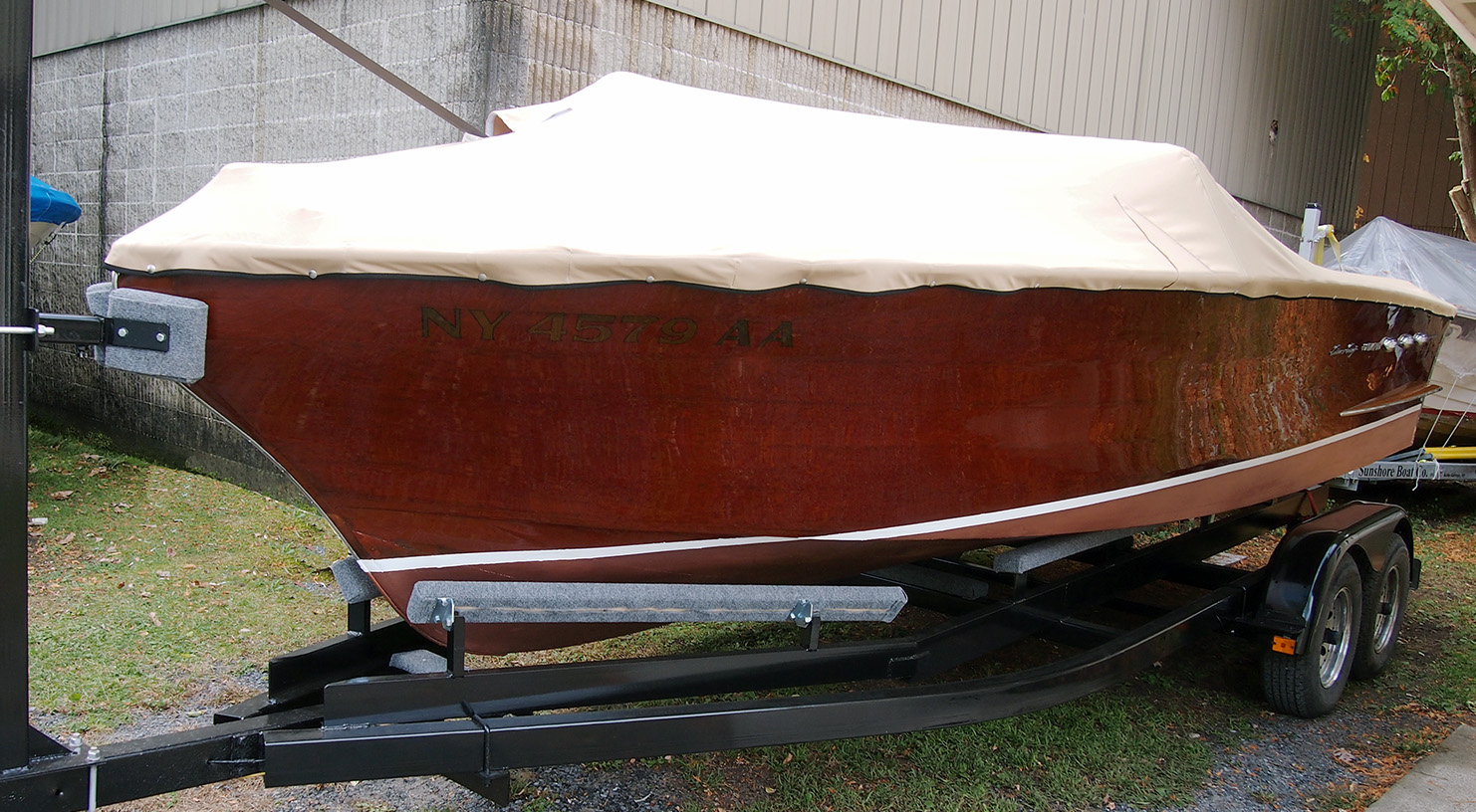 port bow topsides canvas trailer refurbished auth hull ray