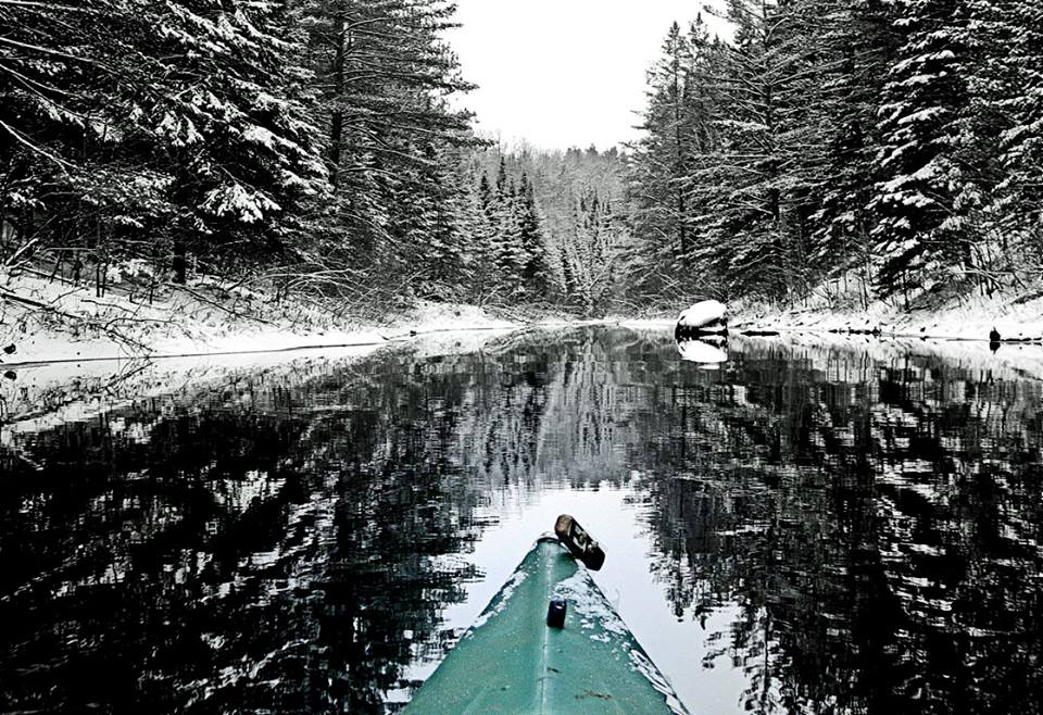 maical winter landscape view from the kayak autho pluskwik paul