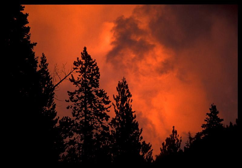 fiery clouds at sunset author ernst brian