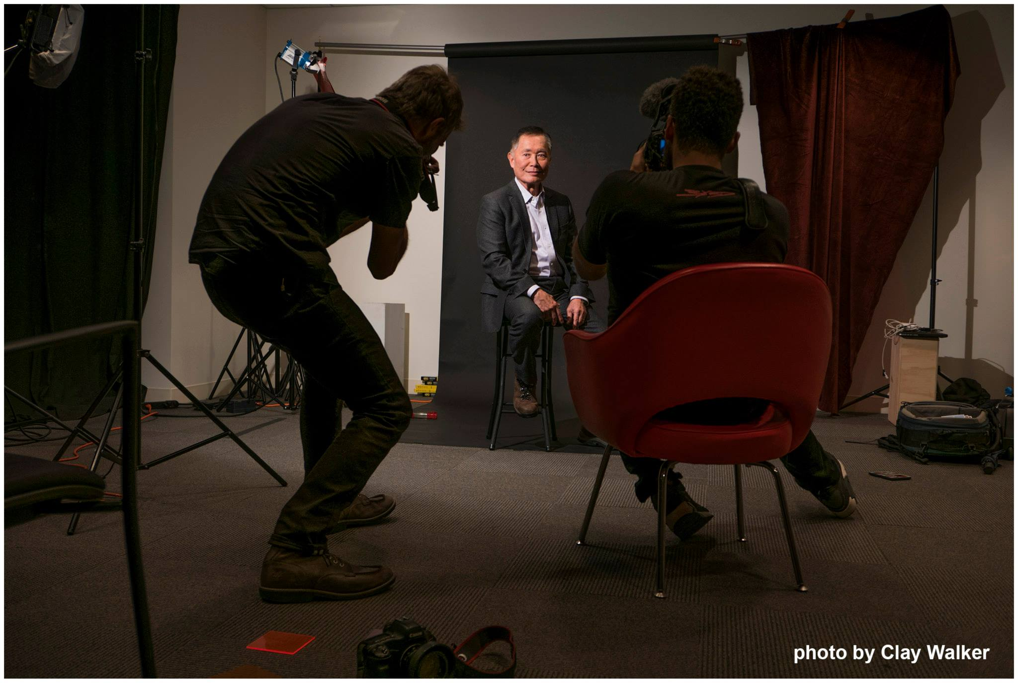 ben shaul photographing george takei for adweek ma walker clay