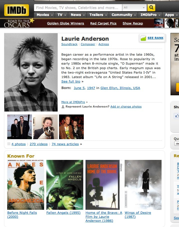 laurie anderson photo by clay walker author walke