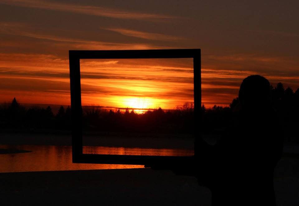 framing in the beautiful winter sunset author p pluskwik paul