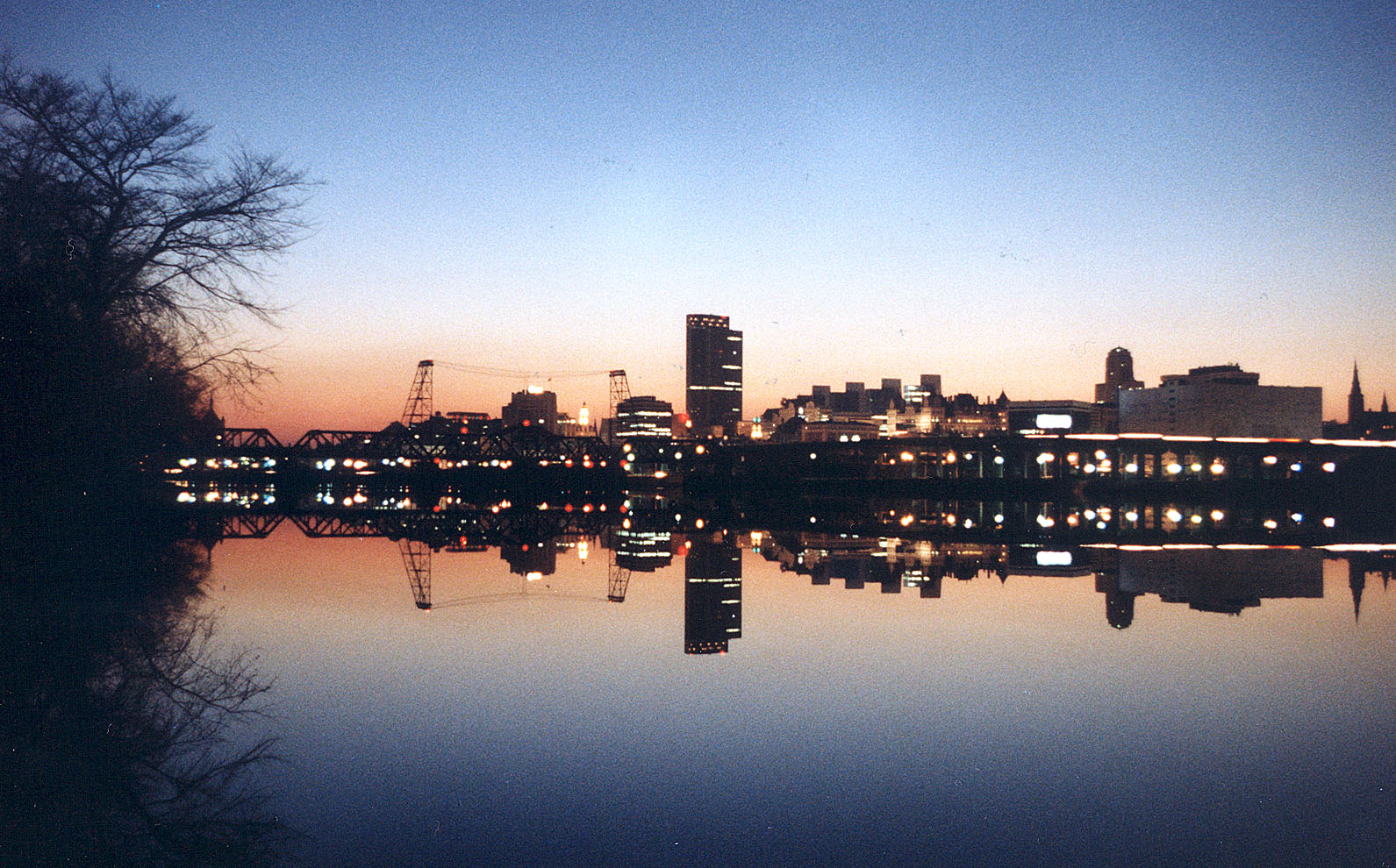 winter albany skyline from bath author hull ray