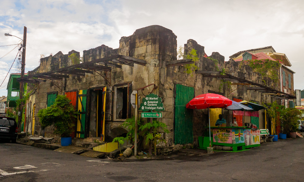 dilapidated colonial splendor in dominica large a downs jim