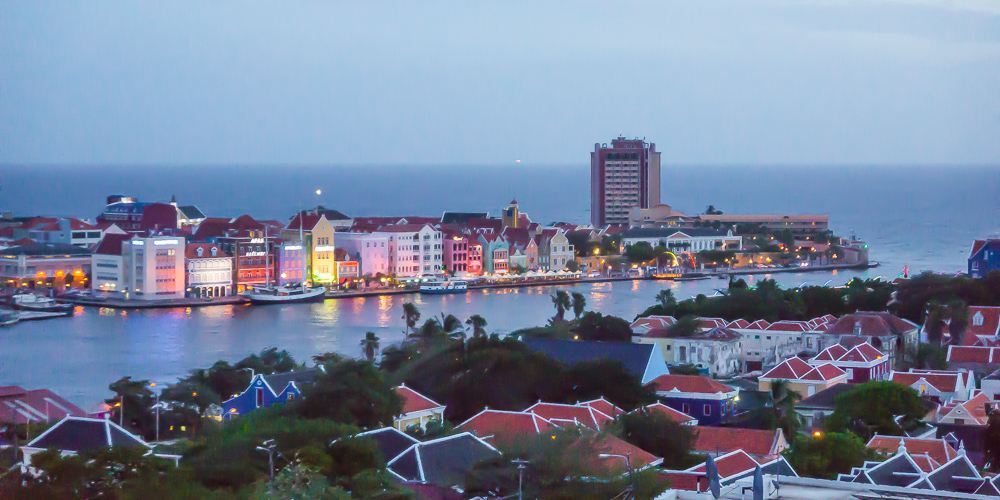 willemstad curacao by night see large author dow downs jim