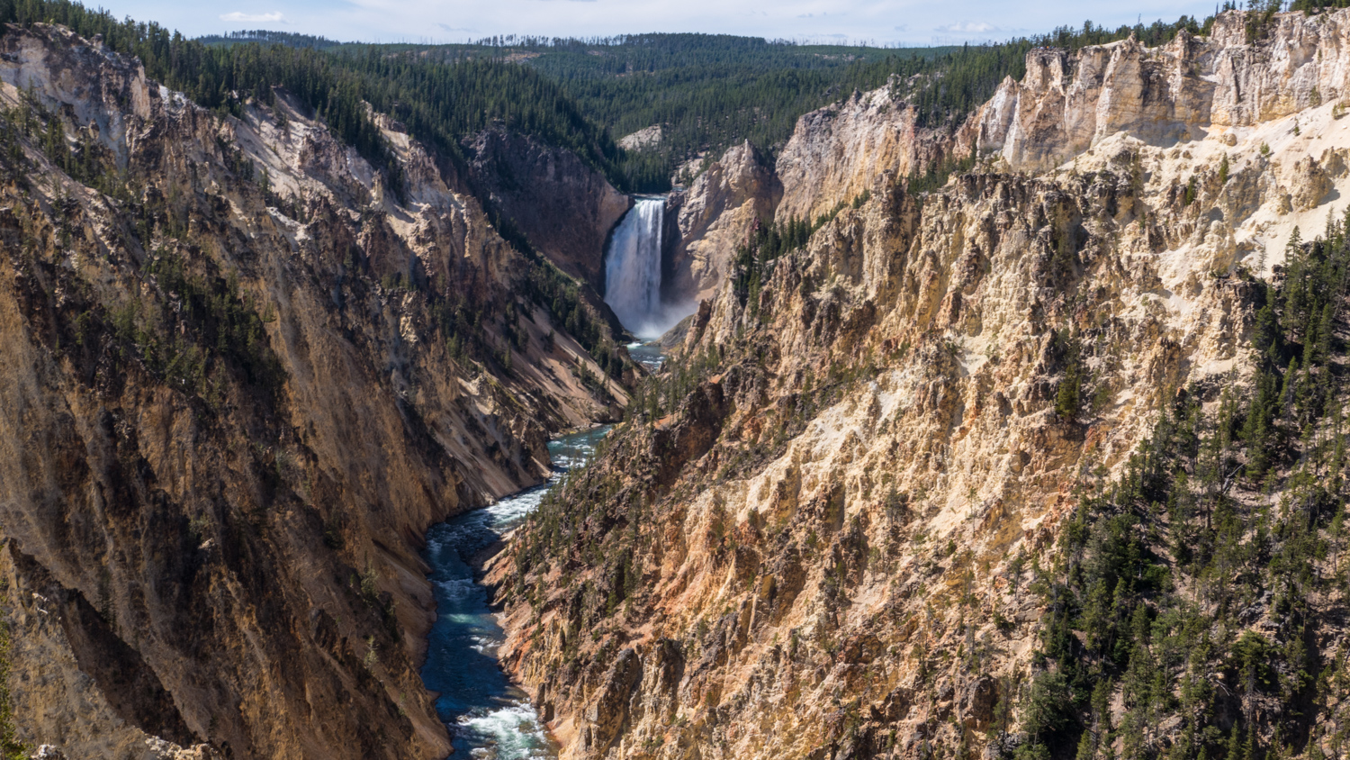 grand canyon of yellowstone and the lower falls a yin tom
