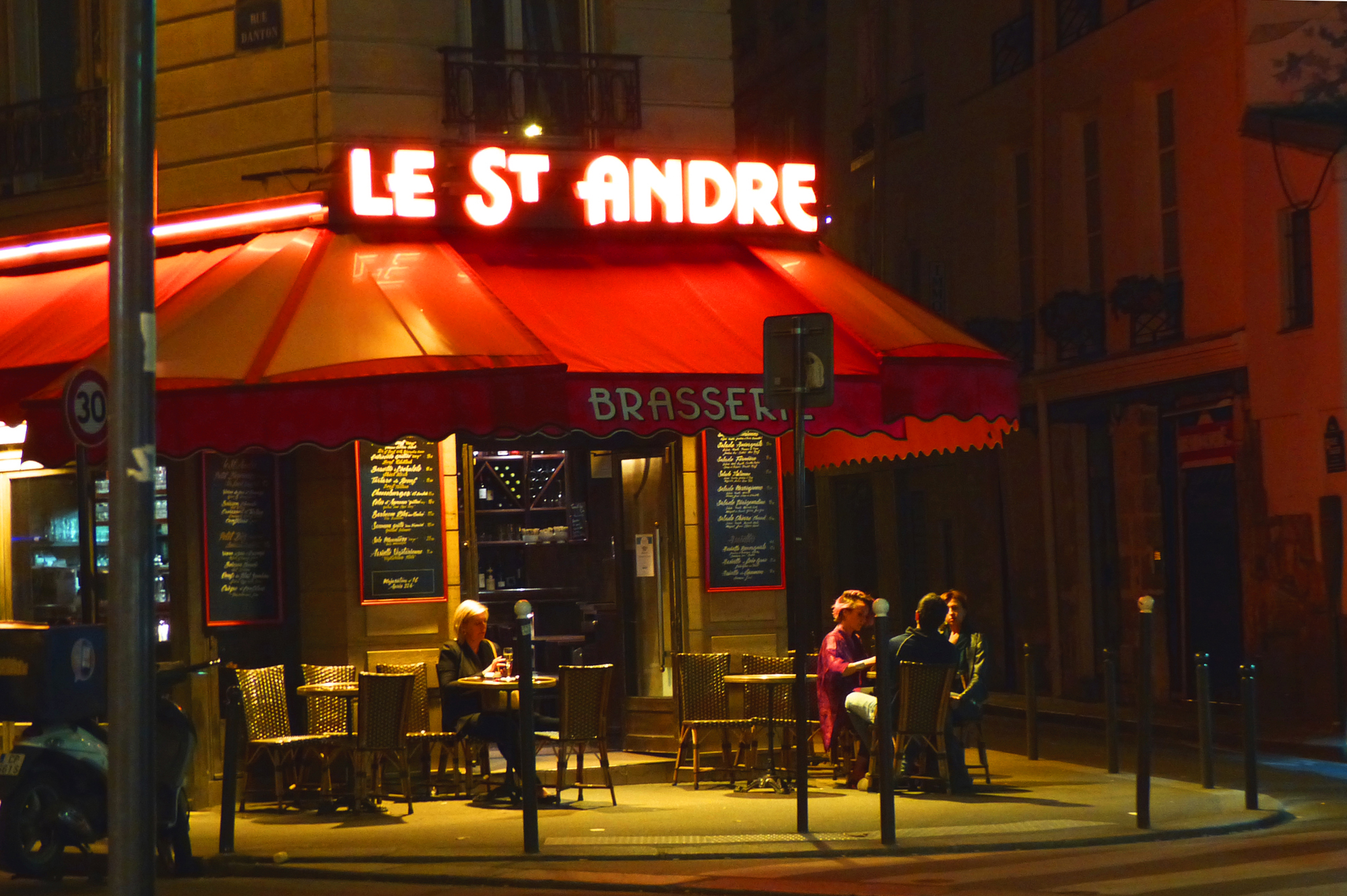at cafe le st andre paris france night author rosemier matt
